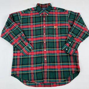 Vintage Ralph Lauren Blake Button Front Shirt Dog
